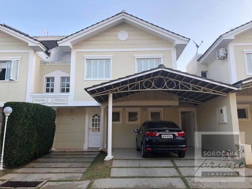 Imagem 1 de 13 de Sobrado Com 4 Dormitórios À Venda, 180 M² Por R$ 790.000 - Condomínio Damalf - Sorocaba/sp - So0134