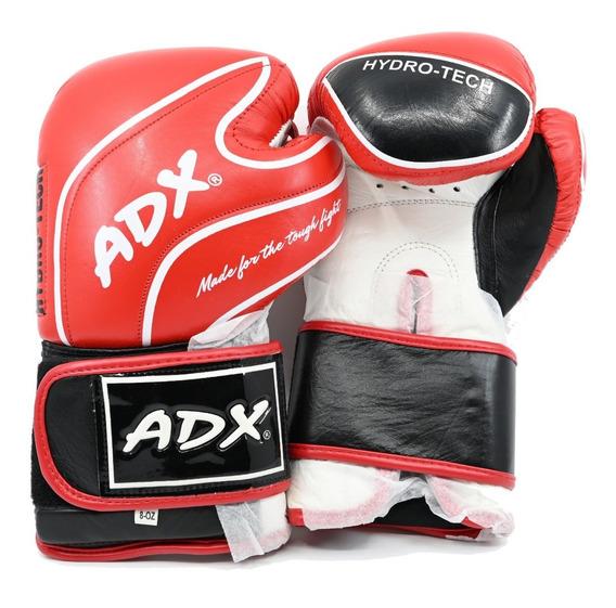 Kit Adx Par De Guantes Box Entrenamiento En Piel Color Rojo Con Protección En Muñeca + Desodorizante