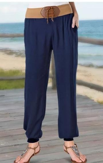 Pantalon Playero Muy Comodo Resorte En La Parte Baja Med