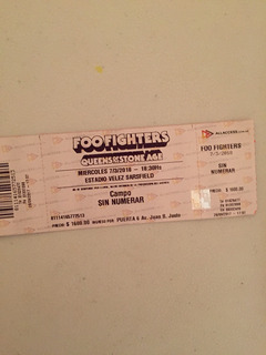 Entrada Foo Fighters