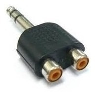 Plug Adaptador 2x Jack Rca P/ P10 Stereo