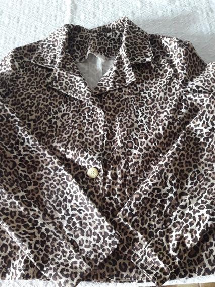 Casaco Blazer Animal Print Onça