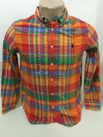 Camisa Social Ralph Lauren 14-16 Anos Original