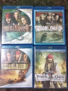 Coleção Piratas Do Caribe - 4 Filmes - Blu Ray