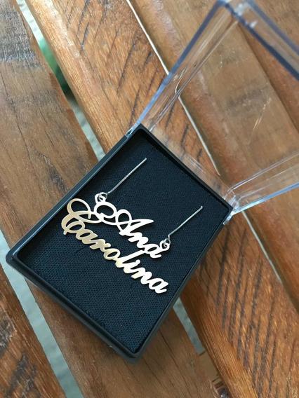Correntes Personalizadas Banhadas A Ouro 18k E Ródio Branco