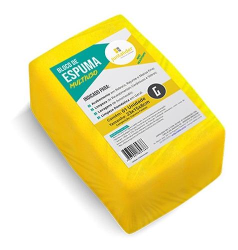 Espuma Em Bloco Juntalider Amarela 8x15x23cm  9010000251 Kit