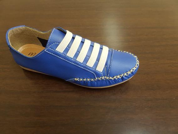 Sapato Tênis Feminino Em Couro