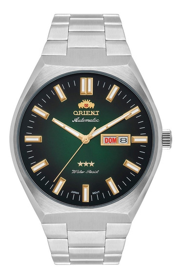 Relógio Orient Masculino Automático Verde 469ss086 E1sx
