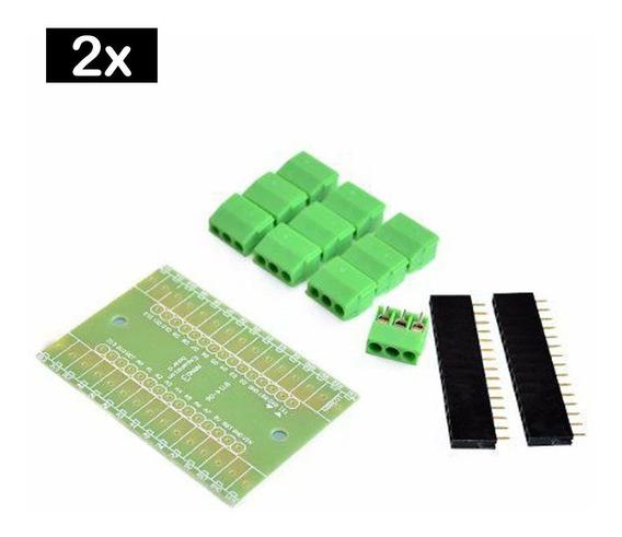 2 Placa Borne Terminal Adaptador Compatível Com Arduino Nano