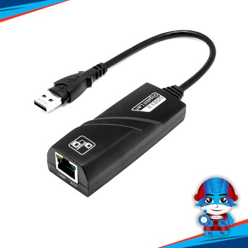 Imagen 1 de 3 de Adaptador Usb 3.0 A Rj45 Gigabit Ethernet