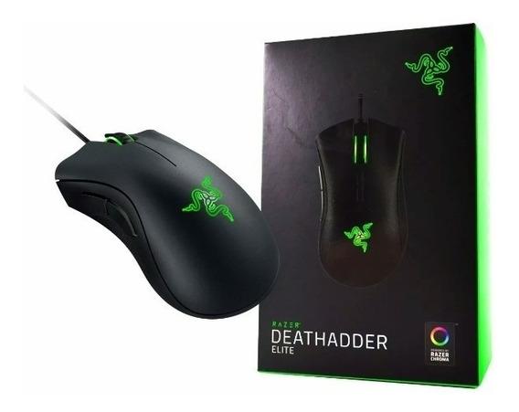 Mouse Razer Deathadder Elite 16000 Dpi Chroma Na Caixa