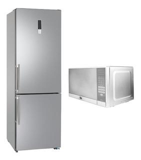 Refrigerador Nfl340 + Microondas Mwo 7x Acero Inox Teka