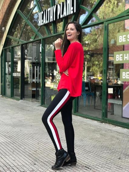 Calza Chupin - Legging De Lycra Con Bandas.