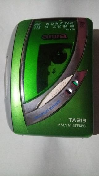 Walkman Aiwa Ta213 Com Radio Am Fm E Fone