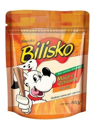 Snacks Bilisko Palitos Maçã E Cenoura Para Cães - 500 G