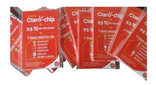 Chip Claro 4g + R$10,00 Crédito Ativa Automático No Seu Ddd