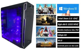 Cpu Gamer Roda Tudo 8gb Ddr3,xeon 3.0ghz,500gb,gtx750ti 2gb