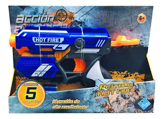 Pistola Toy Hot Fire Lanza Dardo Simil Nerf Cod 6485 Bigshop