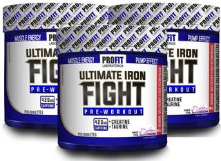 Kit 3x Pré-treino Ultimate Iron Fight - 270g - Profit Labs