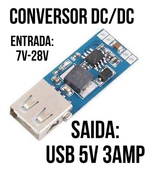 Redutor Inversor Tesão Dc-dc Entrada De 7v Á 28v. Saida 5v