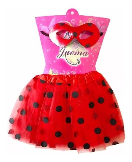 Tutu Ladybug Vestido Niña Fiesta Lady Bug