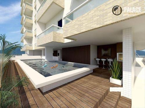 Apartamento Com 2 Dormitórios À Venda, 87 M² Por R$ 455.251,70 - Boqueirão - Praia Grande/sp - Ap1274