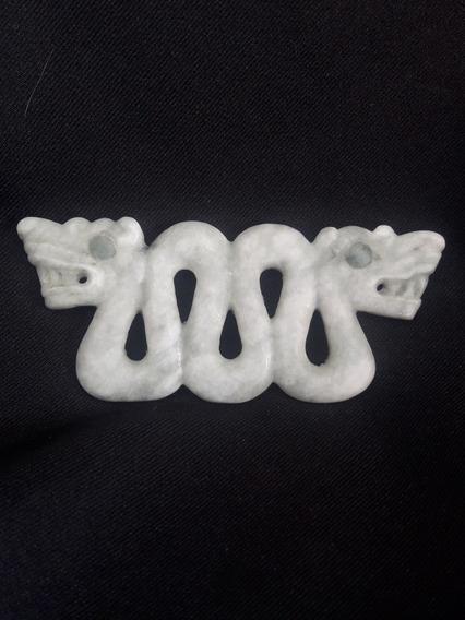 Dije Pectoral Serpiente Emplumada Jade Tipo Prehispanica
