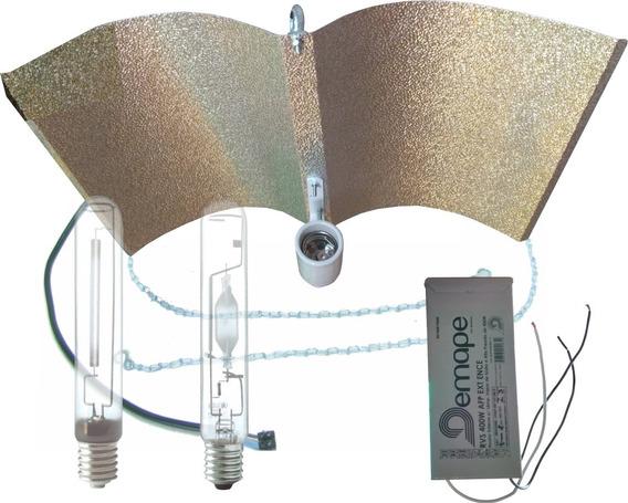 Kit Iluminação Cultivo Indoor Vega E Flora Wing Demape 400w