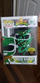 Funko Pop Green Ranger Metalico Assinado