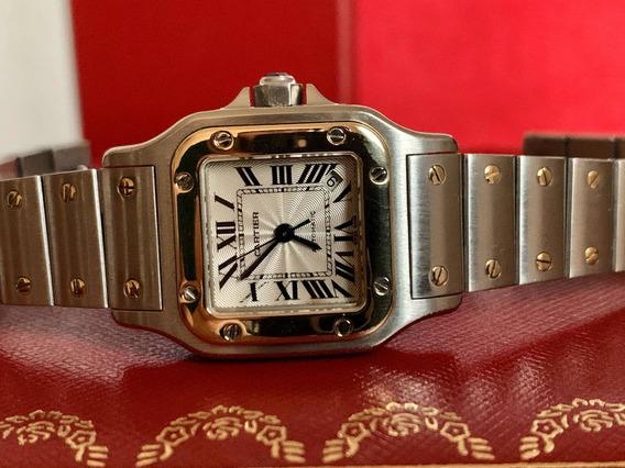 Cartier Santos Galbee Automatico Dama Acero Oro Full Set Sub
