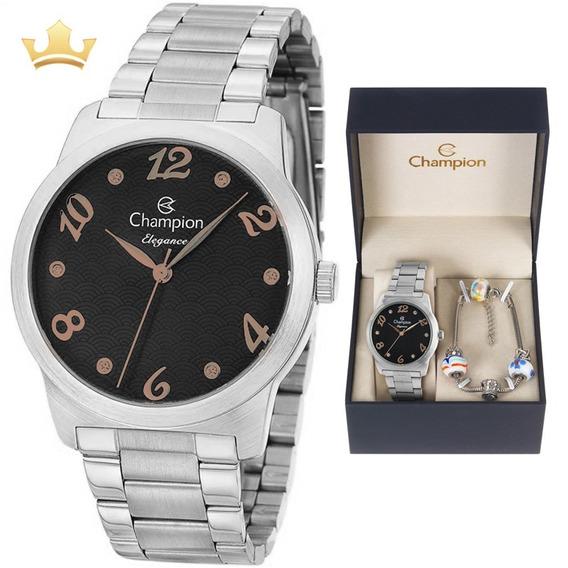 Relógio Champion Feminino Kit Cn26108k Com Nf