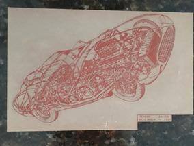 Projeto Cutaway Raio-x De Arte Ferrari Mille Miglia 290 1957