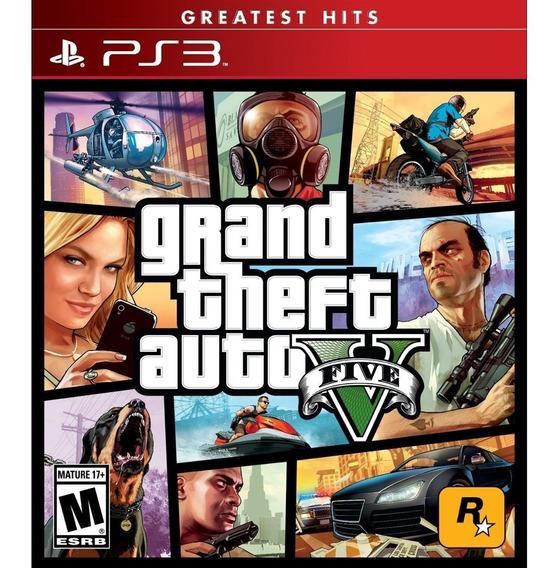 Grand Theft Auto V Gta 5 Ps3 Mídia Física Novo Em Português