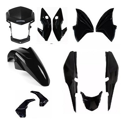 Kit Roupa Plástico Titan 150 2014 Esd Ex Toda Cor ´ - =
