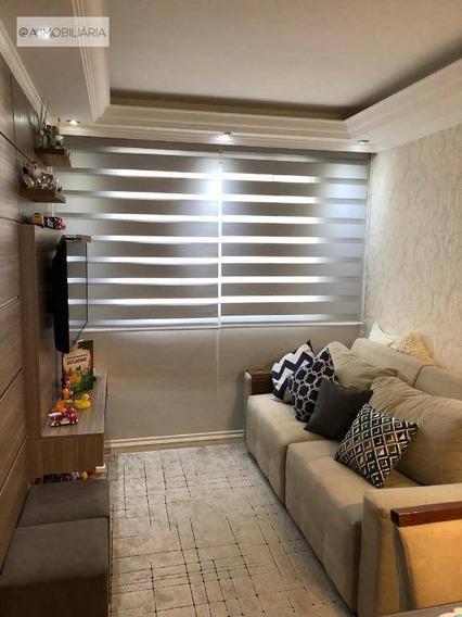 Apartamento Com 2 Dormitórios À Venda, 50 M² Por R$ 250.000,00 - Taboão - São Bernardo Do Campo/sp - Ap0569