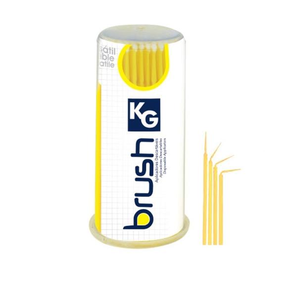 Aplicador Descartável Kg Brush Regular Amarelo Pack 100un