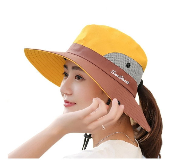 Sombrero Unisex Bucket Upf50 Ligero Impermeable Hombre Mujer