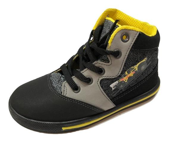 Zapatillas De Niño Hot Wheels Negras Originales / S. Boxer
