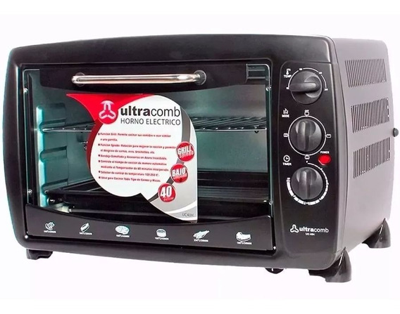 Ultracomb Horno Electrico Con Spiedo Uc-40h 40l Negro