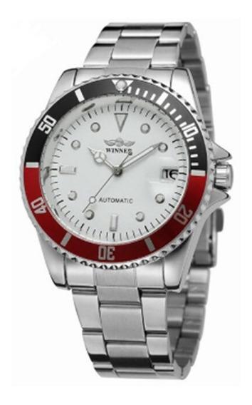 Relógio Winner Automático + Caixa, Aço Inox Promocional