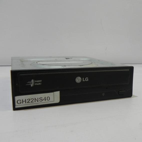 Gravador De Cd E Dvd Lg Sata Preto 22x Gh22ns40