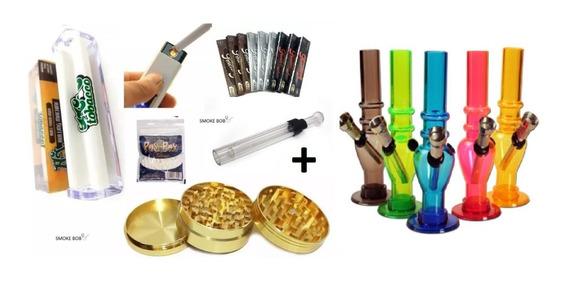 Kit Dichavado Ouro + Bong + Seda Vidro + Acessorios