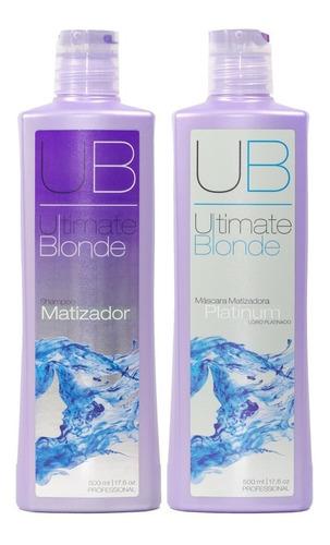 Kit Ultimate Blonde Shampoo Matizador E Máscara 500 Ml