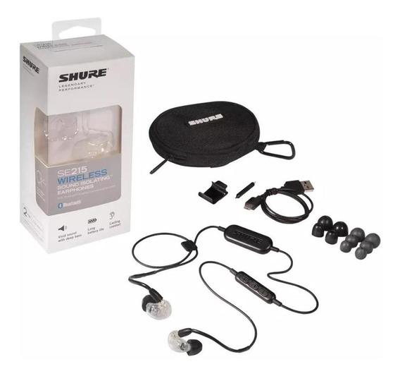 Fone Ouvido Shure Intra Bluetooth Se215 Cl Bt1 Transparente
