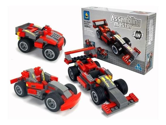 Carro Corrida Creator 3 Em 1 Ferrari Lego Compatível 143 Pçs
