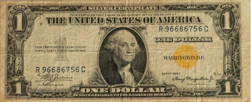 Billete U$1 Americano Sello Amarillo F V