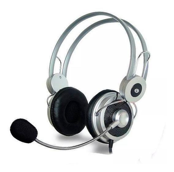 Fone De Ouvido Headphone Stereo Notebook Pc Skype Microfone