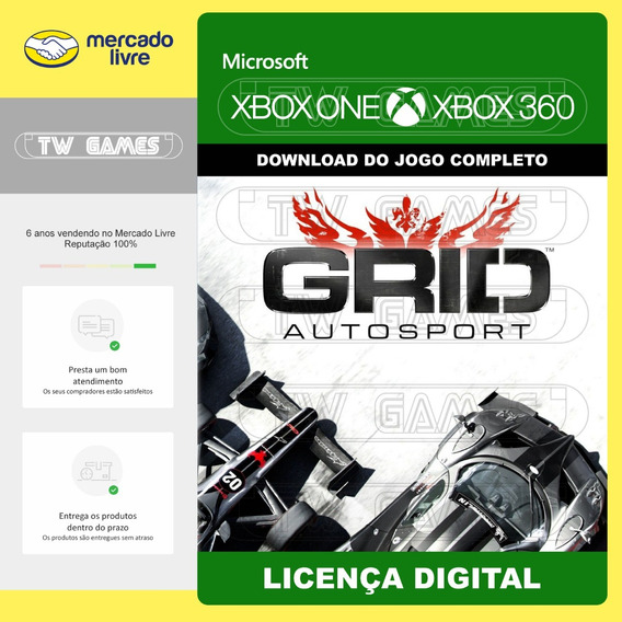 Grid Autosport Digital Retrocompativel Xbox 360 Xbox One