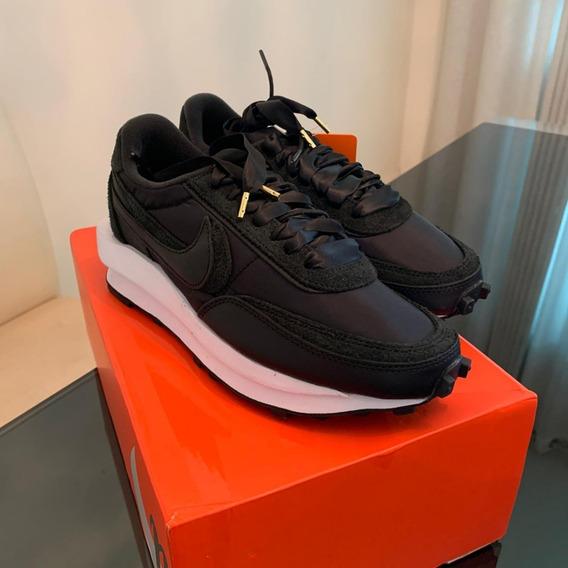 Tênis Nike Ld Waffle Sacai Black Nylon - 6 Us / 37 Br.