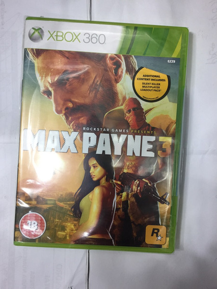 Max Payne 3 Xbox 360 Midia Fisica Original, Estado De Zero!!